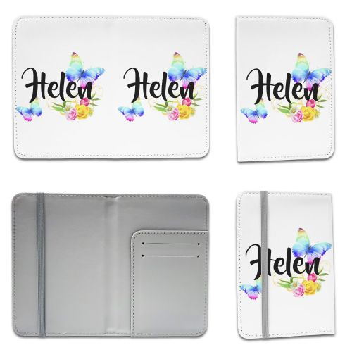 Personalised Beautiful Butterflies & Flowers Novelty Gift Passport Holder